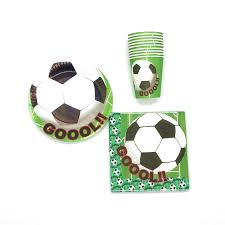 <b>60pcs</b><b>lot</b> Football Baby Shower Happy <b>Decoration</b> Boy Girl Paper ...