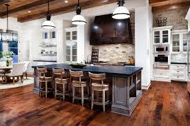 eclectic austin kitchen beams