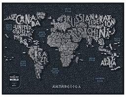 Купить <b>1DEA</b>.<b>me Скретч Карта Мира</b> Letters по низкой цене с ...
