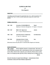 Example Resume  Examples Of Good Objectives For Resumes Resume       objectives for happytom co