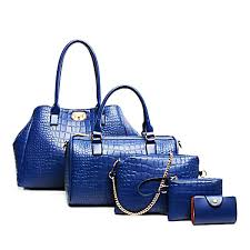 Buy <b>Women's</b> 5 Pieces Shoulder <b>Bag Set</b> Versatile Alligator Pattern ...