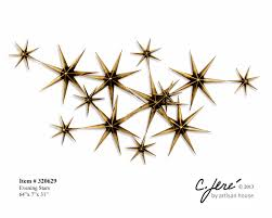 metal star wall decor: evening stars wall decor evening stars wall sculpture by artisan