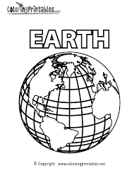 Small Picture Planet Earth Coloring Page A Free Science Coloring Printable