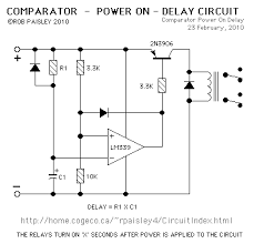 voltage comparators comparator power on delay circuit