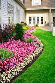 front yard garden ideas awesome photos home stratosphere a flowerbed of colorful flowers against a wall crystal windows reflects the colorful and nature