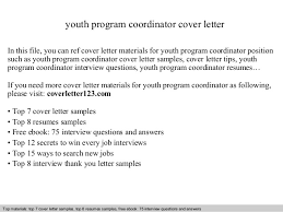 youth program coordinator cover letter youth program coordinator cover letter in this file you can ref cover letter materials for