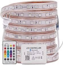 RGB <b>5050 LED</b> Strip Light AC 110V <b>220V</b> Flexible Waterproof <b>LED</b> ...