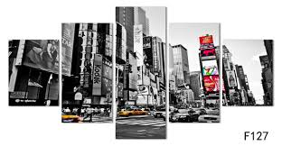 2018 2016 <b>Hot Sales Without Frame</b> 5 Panels Picture New York City ...