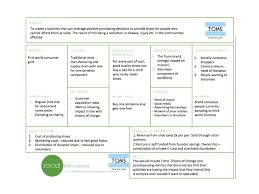 social lean canvas a lean business model canvas for social example canvas toms shoes