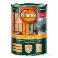 <b>Влагостойкая лазурь</b> с воском для <b>дерева</b> Pinotex Ultra крас ...