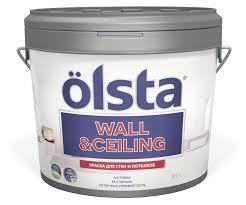 <b>Краска</b> для стен и потолков <b>OLSTA Wall&ceiling БАЗА</b> A 9 л ...