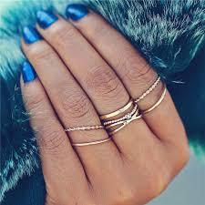 Ring Medium Sets for Women Mens <b>Vintage Leaf</b> Flower Crystal ...