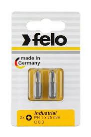 <b>Бита крестовая PH</b> 2X25, серия Industrial, 2 шт в блистере, <b>Felo</b> ...