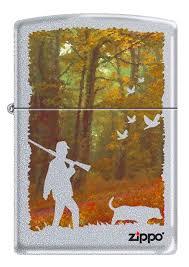 <b>Зажигалка Zippo</b> (<b>205</b> HUNTING) Осенняя охота латунь/сталь с ...