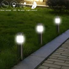 Stainless Steel <b>Led Solar Lawn Lamp</b> Outdoor Garden Path Lawn ...