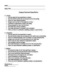 images about compare  amp  contrast writing on pinterest    compare contrast essay rubric