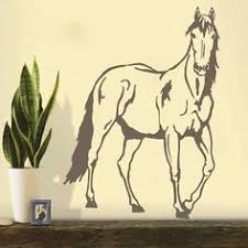 sun wall decal trendy designs: standing horse wall decal trendy wall designs