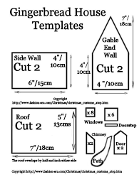 Free Gingerb House Plans   Gingerb House   instructions    gingerb house template