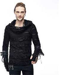 Gothic Hole <b>Men</b> HoodieT <b>Shirt</b> Long Sleeve 2020 Spring Autumn ...