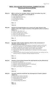 behavioral sciences mbbs study stuff behavioural sciences model mcq 2007 5