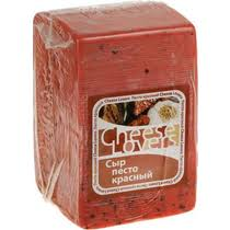 <b>Сыр</b> полутвердый <b>Cheese Lovers Песто</b> красный 50% ~1 кг ...