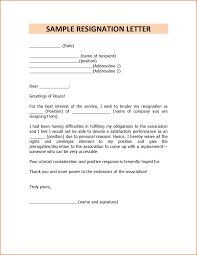 sample resignation sample resignation 5625