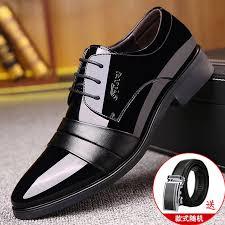 <b>Leather</b> shoes <b>men's youth business</b> casual formal wear tie <b>men</b> fall ...