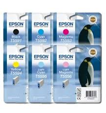 GENUINE T559x INK CARTRIDGE = (1 x <b>T5591</b> BLACK, 1 x T5592 ...