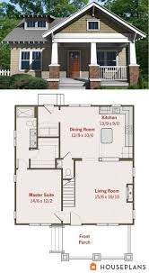 images about Small House Plans on Pinterest   Square Feet    Craftsman Bungalow Plan  sft Plan