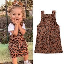 <b>1 6Y Toddler</b> Baby <b>Kid</b> Girls Leopard Dress Sleeveless Casual ...