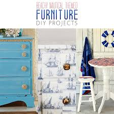 beachy nautical themed furniture diy projects beachy furniture