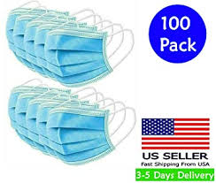 FITT 100pcs Disposable Face Mask, 1count : Beauty - Amazon.com