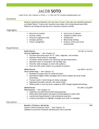 marketing resume examples marketing sample resumes livecareer media planner resume example