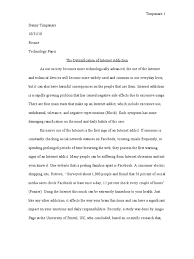 internet addiction essay