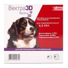 <b>Ceva</b> Vectra 3D <b>капли</b> от блох и клещей для <b>собак</b> 40-65 кг в ...