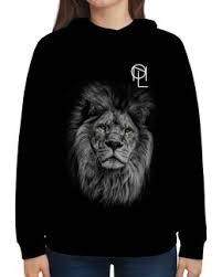 """Толстовки c стильными принтами """"<b>lion</b>"""" - купить в интернет ..."""