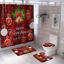 <b>4pcs</b>/set Waterproof Home Bathroom <b>Merry Christmas</b> Bell Non-Slip ...
