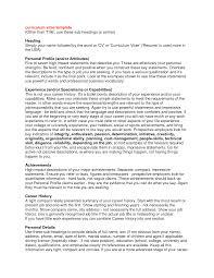 resume profile statement template career profile resume examples