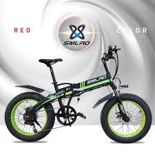 Smlro S9 Electric Bike 20inch 4.0 Fat Tire Aluminum Foldable ...