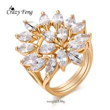 Crazy Feng Cheap <b>Luxury</b> Rings For <b>Women</b> Unique Design Gold ...