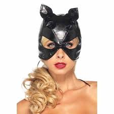 <b>Sexy</b> Black Faux <b>Leather Cat Mask</b> Super Hero Woman Halloween ...