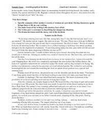 cover letter examples of autobiographical essays best photos