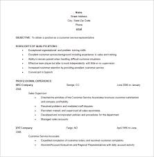 customer service resume template –    free word  excel  pdf    free customer service representative resume word