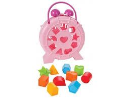 Купить <b>игрушку</b>-сортер <b>Pilsan</b> (03-340) Часики с геометрическими ...