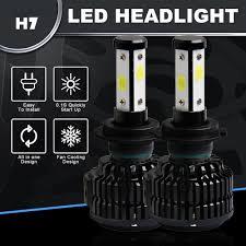 <b>120W</b> 12800lm <b>4 Sides LED</b> Headlight Kit <b>H7</b> HB2 Hi/low Beams ...