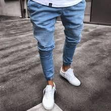 <b>fashion mens ripped</b> skinny jeans destroyed frayed - Buy fashion ...