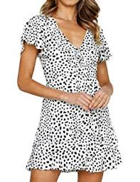 WannaDress Women <b>Leopard Printed</b> Short Sleeve <b>Sexy</b> Ruffles ...