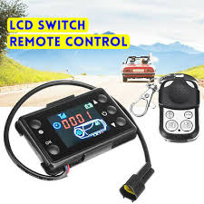 <b>Universal 12V</b>/<b>24V</b> 3/5KW <b>LCD</b> Switch & Remote Control For Car ...