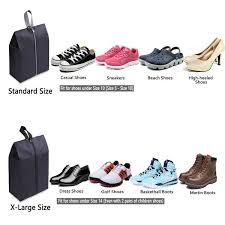 YAMIU <b>Travel</b> Shoe Bags Set of 4 <b>Waterproof Nylon</b> With Zipper For ...