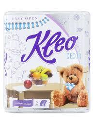 <b>Полотенца бумажные Kleo Decor</b> с рисунком 2сл., 2рул. <b>KLEO</b> ...